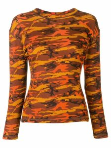 Jean Paul Gaultier Pre-Owned 1989 camouflage printed top - ORANGE