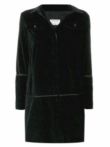 Helmut Lang Pre-Owned velvet coat - Black