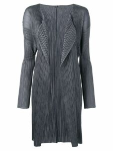Issey Miyake Pre-Owned long pleated cardigan - Grey