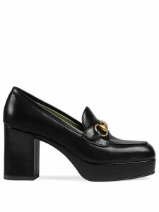 Gucci Leather platform loafer with Horsebit - Black