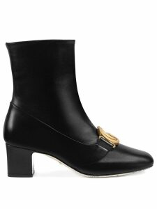 Gucci Double G leather ankle boots - Black