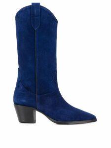 Paris Texas knee-length cowboy boots - Blue