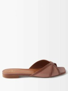 The Row - Merrian Fluted-sleeve Blouse - Womens - Tan