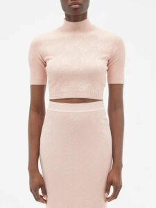 Brock Collection - Orsman Hammered-satin Peplum Top - Womens - Pink