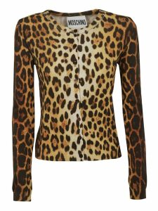 Moschino Leopard Printed Cardigan