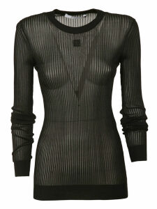 Givenchy Sheer Longsleeved Jersey Top