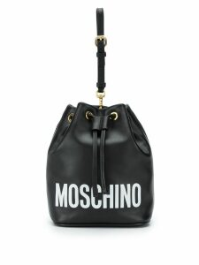 Moschino logo bucket bag - Black