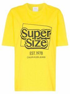 Calvin Klein Jeans Est. 1978 supersize me logo cotton T-shirt - Yellow