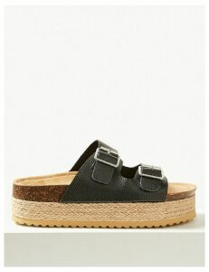 M&S Collection Two Strap Flatform Espadrille