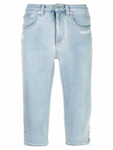 Off-White skinny cropped jeans - Blue