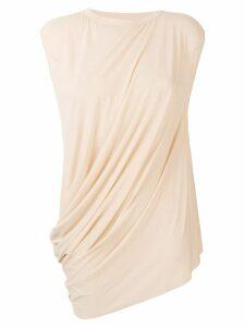 Rick Owens Lilies draped sleeveless top - Neutrals