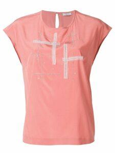 Peserico embellished crewneck T-shirt - Pink