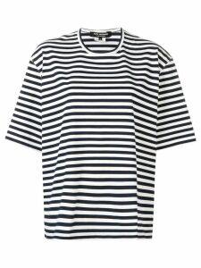Junya Watanabe cut out striped tee - Blue