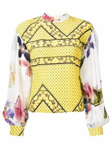 Ganni floral print blouse - Yellow