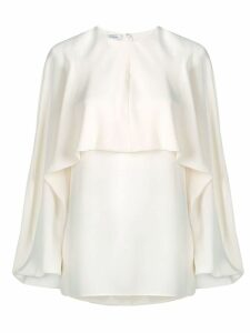 Valentino Georgette silk top - NEUTRALS