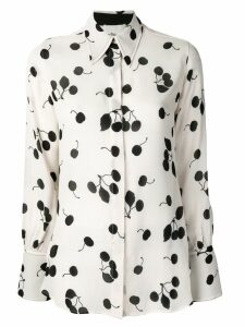 3.1 Phillip Lim Long-sleeved cerise print silk shirt - Neutrals