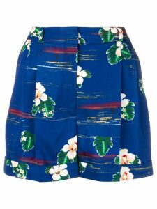 Racil Hawaii high-rise shorts - Blue