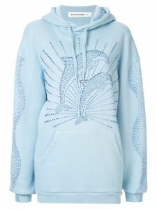 Filles A Papa rhinestone dolphin hoodie - Blue