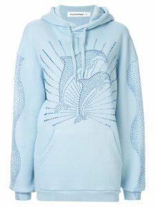 Filles A Papa rhinestone dolphin hoodie - Blue