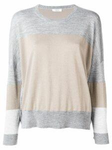 Peserico colour block sweater - Grey