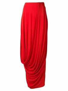 Marni draped maxi skirt - Red