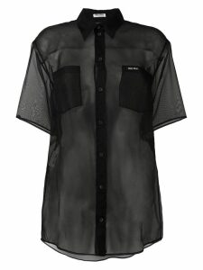 Miu Miu sheer silk shirt - Black