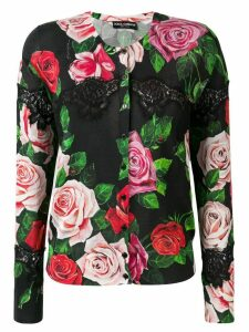 Dolce & Gabbana lace and floral cardigan - Black