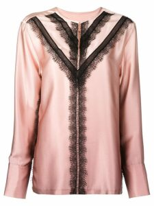 Jason Wu contrast lace-detail blouse - PINK