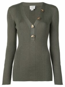 Jason Wu long-sleeve fitted sweater - Green