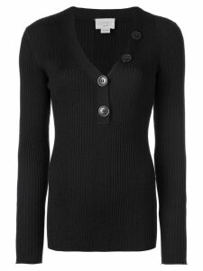 Jason Wu long-sleeve fitted sweater - Black