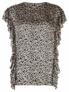 Jason Wu embroidered ruffle blouse - Black