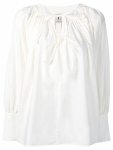 L'Autre Chose tie neck georgette blouse - White