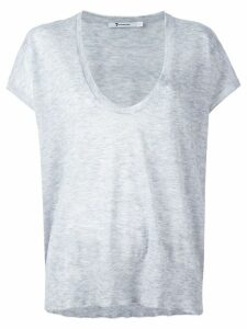 Alexander Wang knit scoop neck top - Grey