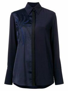 Victoria Victoria Beckham embroidered blouse - Blue