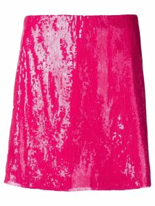 Alberta Ferretti sequin mini skirt - Pink