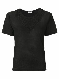 Saint Laurent star embroidered T-shirt - 1000 BLACK