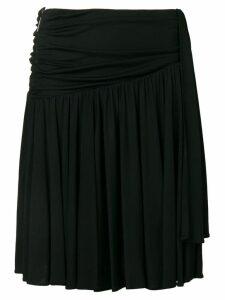 MSGM ruched side skirt - Black