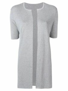 Sottomettimi short-sleeved cardigan - Grey