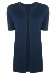 Sottomettimi short-sleeved cardigan - Blue