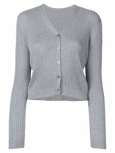 Sottomettimi ribbed knit cardigan - Grey