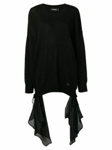 Dsquared2 draped detail sweater - Black