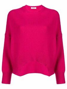 Valentino asymmetric hem jumper - Pink