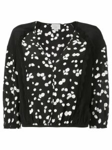 Jason Wu floral cropped blouse - Black