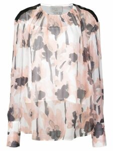 Jason Wu floral long-sleeve blouse - Pink