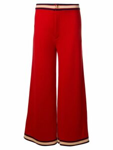 Gucci stripe trim trousers - Red