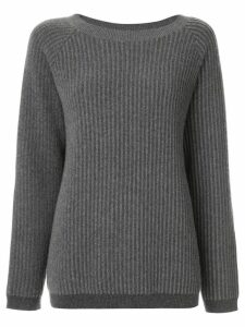 Theory oversized ribbed jumper - Grey