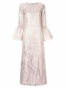 Bambah metallic long dress - Pink