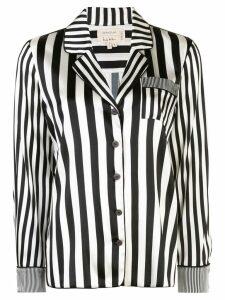 Nicole Miller Pajama stripe shirt - Black