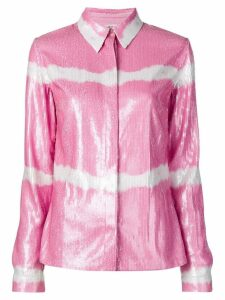 MSGM pink sequin shirt
