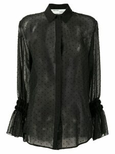 Off-White semi-sheer spotted blouse - Black